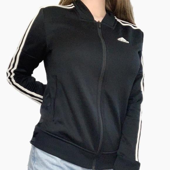adidas Jackets & Blazers - Adidas stripe track jacket outerwear black white